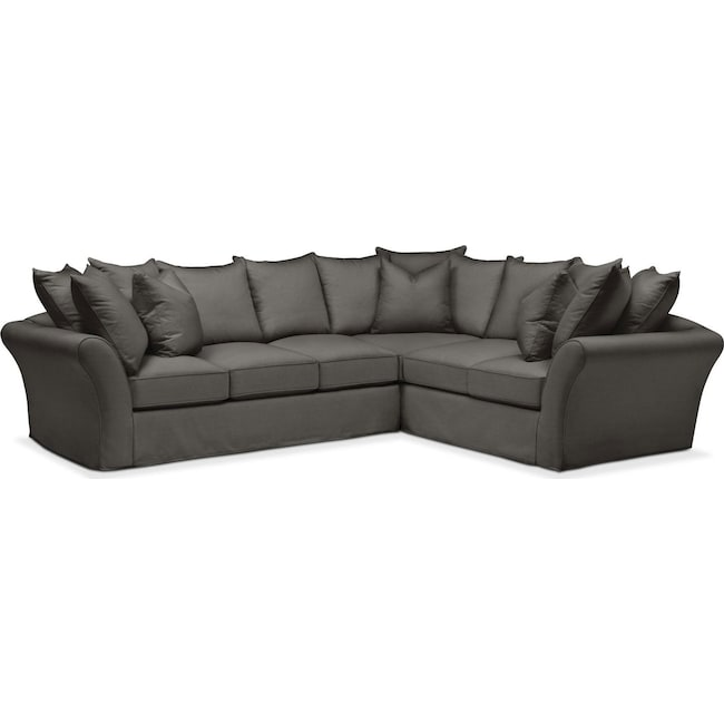 Living Room Furniture - Allison 2 Pc. Sectional with Left Facing Sofa- Cumulus in Statley L Sterling