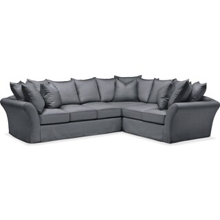Allison 2 Pc. Sectional with Left Facing Sofa- Cumulus in Depalma Charcoal