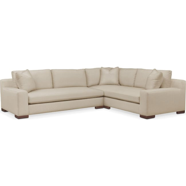 Living Room Furniture - Ethan 2-Piece Sectional with Left-Facing Sofa - Comfort in Depalma Taupe