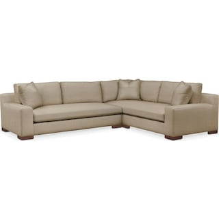 Ethan Cumulus 2 Piece Sectional with Left-Facing Sofa - Millford II Toast