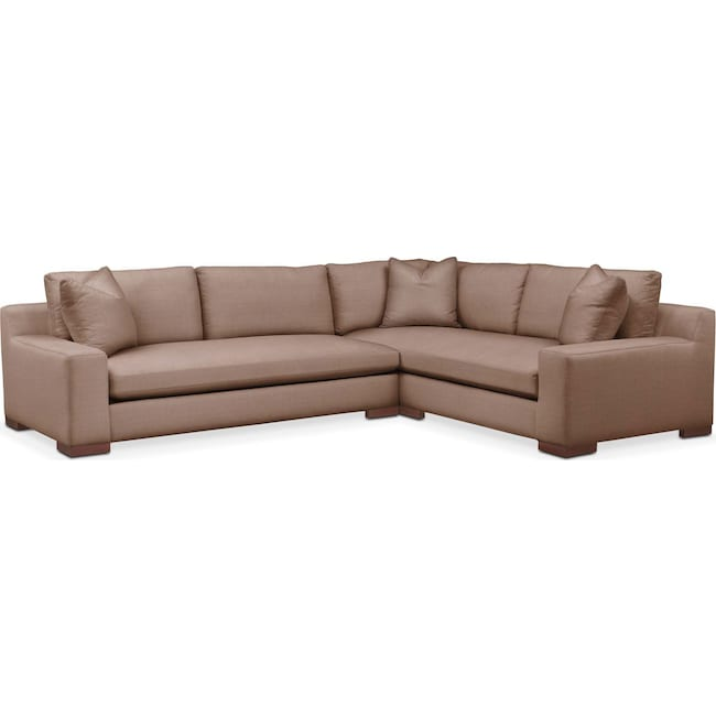Living Room Furniture - Ethan 2-Piece Sectional with Left-Facing Sofa - Cumulus in Abington TW Antler