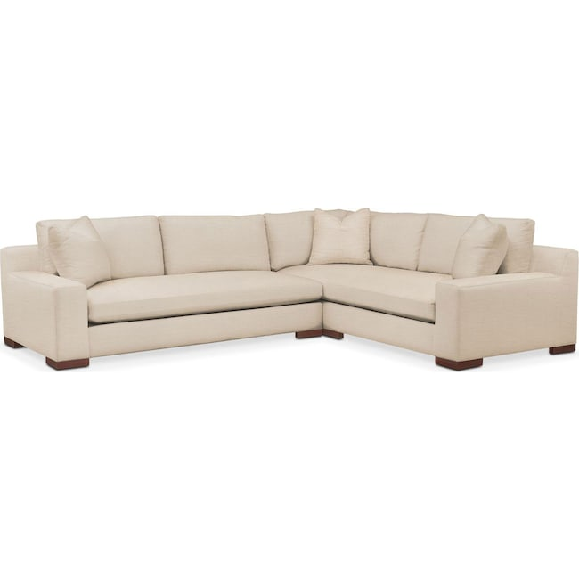 Living Room Furniture - Ethan 2-Piece Sectional with Left-Facing Sofa - Cumulus in Anders Ivory