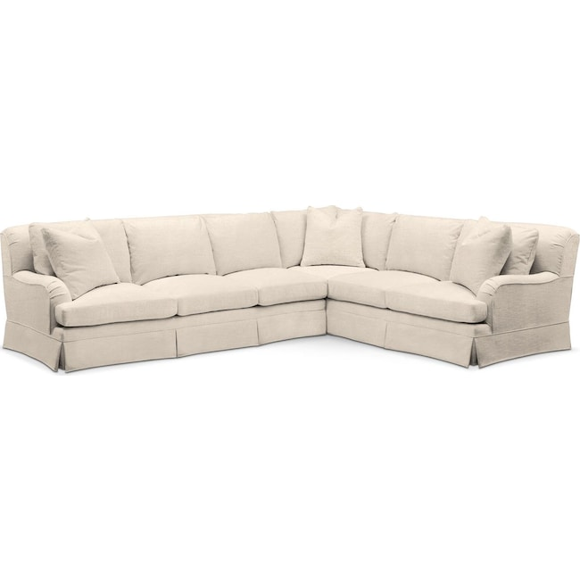 Living Room Furniture - Campbell 2 Pc. Sectional with Left Arm Facing Sofa- Cumulus in Curious Pearl