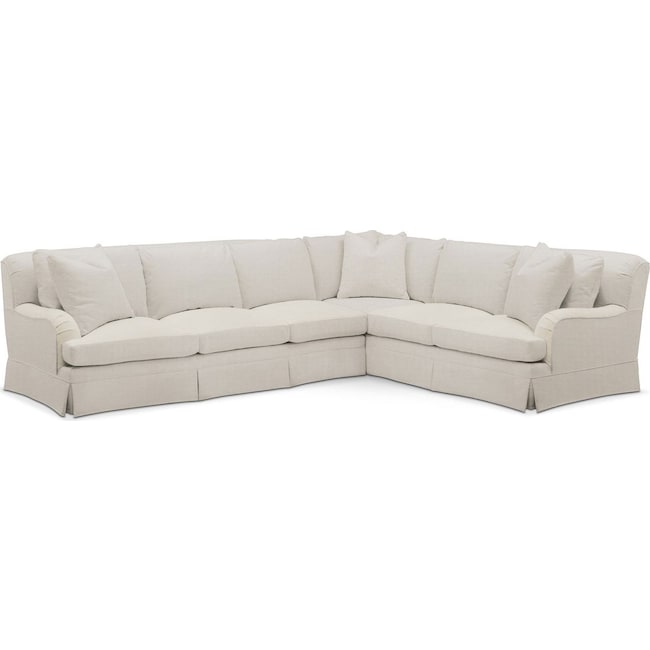 Living Room Furniture - Campbell 2-Piece Sectional with Left-Facing Sofa - Cumulus in Victory Ivory