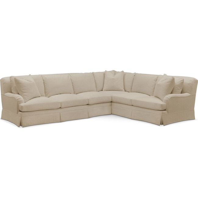 Living Room Furniture - Campbell 2-Piece Sectional with Left-Facing Sofa - Cumulus in Depalma Taupe