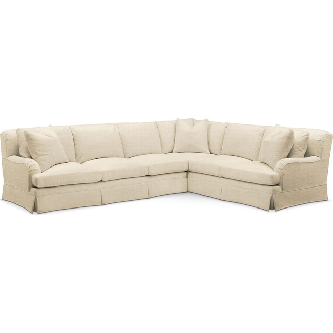 Living Room Furniture - Campbell 2 Pc. Sectional with Left Arm Facing Sofa- Comfort in Anders Cloud
