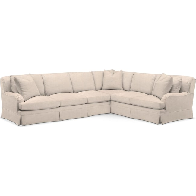 Living Room Furniture - Campbell 2 Pc. Sectional with Left Arm Facing Sofa- Comfort in Dudley Buff