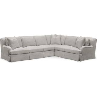Campbell Comfort 2 Piece Sectional with Left-Facing Sofa - Dudley Gray
