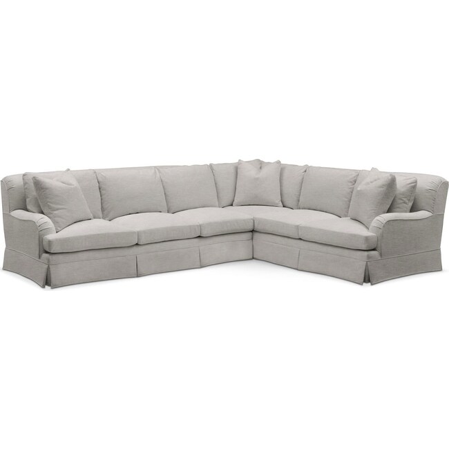 Living Room Furniture - Campbell 2 Pc. Sectional with Left Arm Facing Sofa- Comfort in Dudley Gray