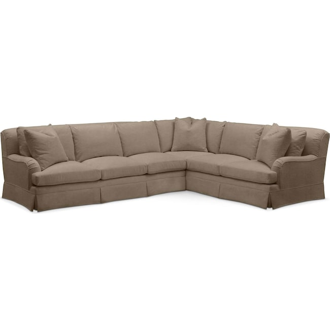 Living Room Furniture - Campbell 2 Pc. Sectional with Left Arm Facing Sofa- Comfort in Statley L Mondo