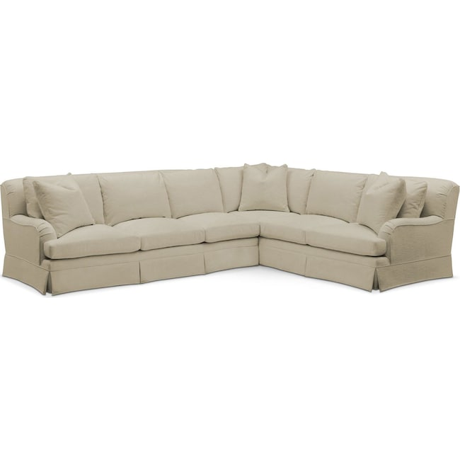 Living Room Furniture - Campbell 2 Pc. Sectional with Left Arm Facing Sofa- Cumulus in Abington TW Barley
