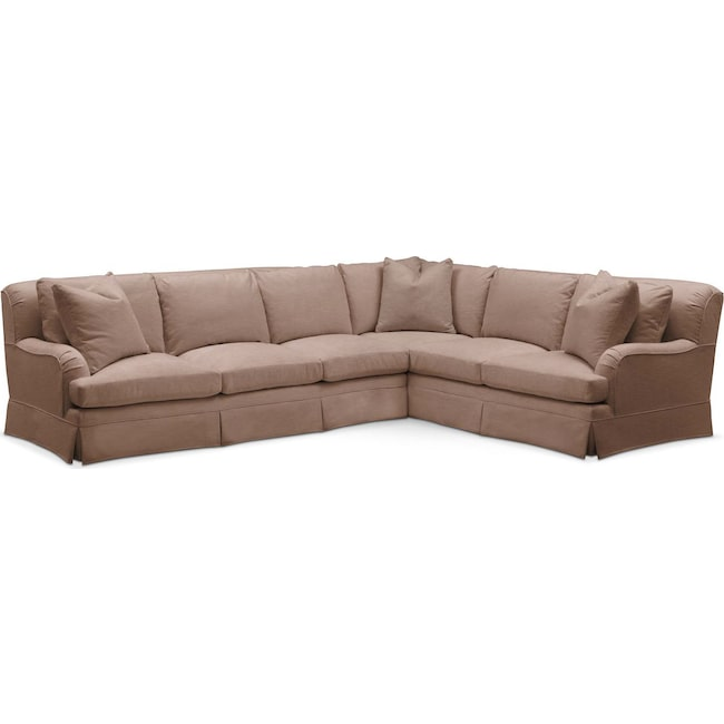 Living Room Furniture - Campbell 2 Pc. Sectional with Left Arm Facing Sofa- Comfort in Abington TW Antler