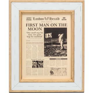First Man on the Moon Framed Print