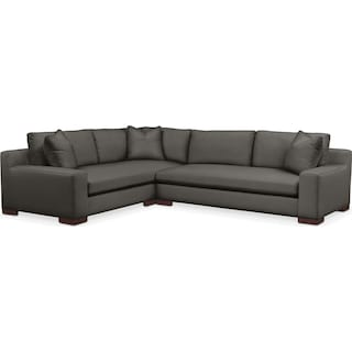 Ethan Comfort 2 Piece Sectional with Right-Facing Sofa - Statley L Sterling