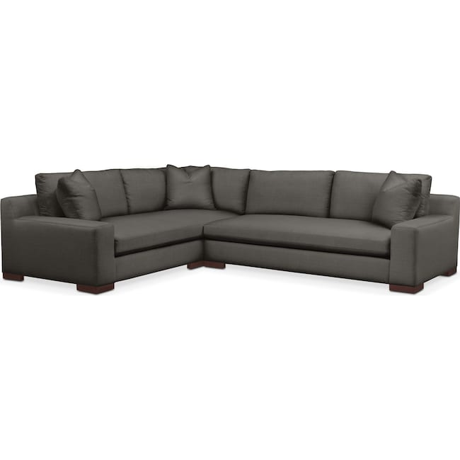 Living Room Furniture - Ethan 2-Piece Sectional with Right-Facing Sofa - Comfort in Statley L Sterling