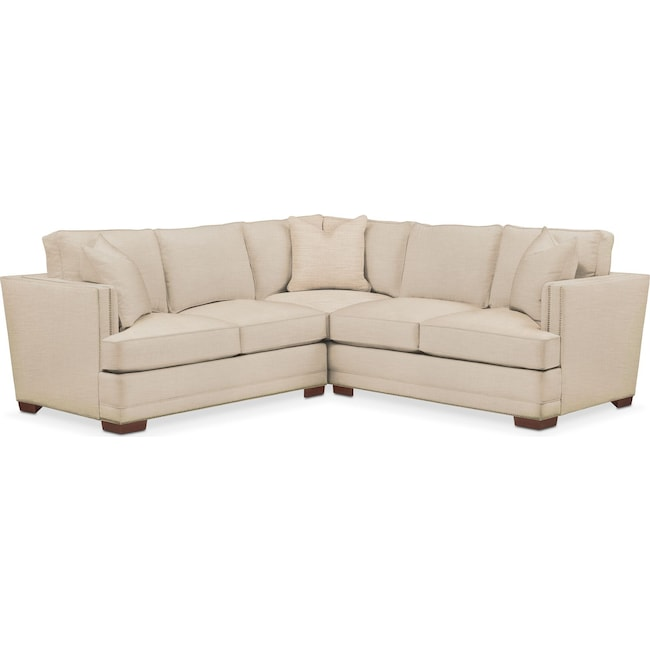 Living Room Furniture - Arden 2-Piece Sectional with Left-Facing Loveseat - Cumulus in Victory Ivory