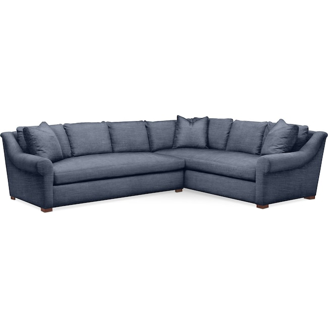 Living Room Furniture - Asher 2 Pc. Sectional with Left Arm Facing Sofa- Cumulus in Curious Eclipse