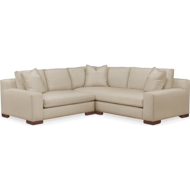 Living Room Furniture - Ethan 2-Piece Sectional with Left-Facing Loveseat - Cumulus in Depalma Taupe