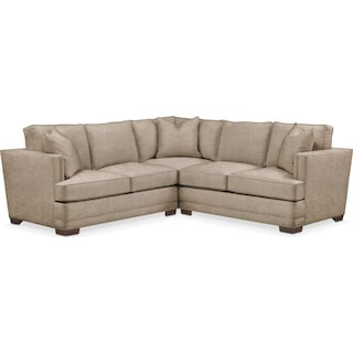 Arden 2 Pc. Sectional with Left Arm Facing Loveseat- Cumulus in Dudley Burlap