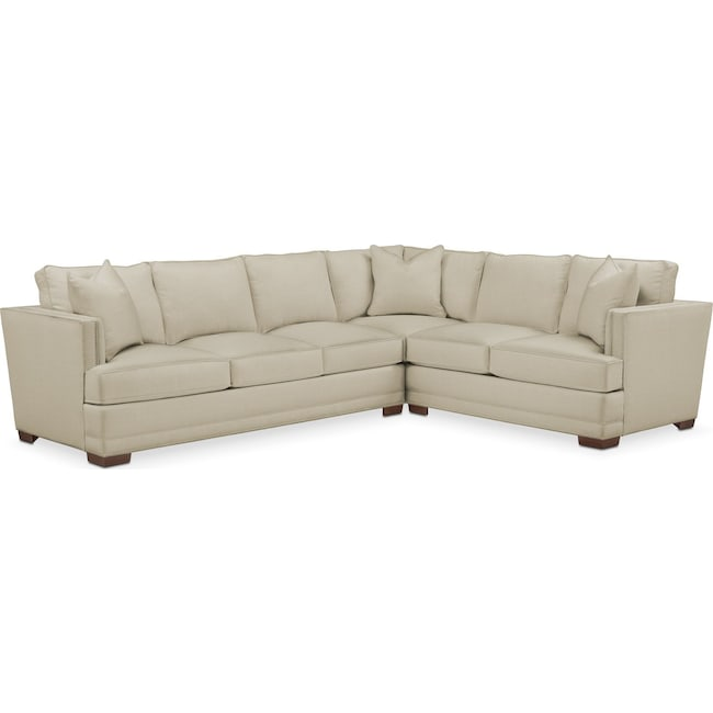 Living Room Furniture - Arden 2 Pc. Sectional with Left Arm Facing Sofa- Cumulus in Abington TW Barley