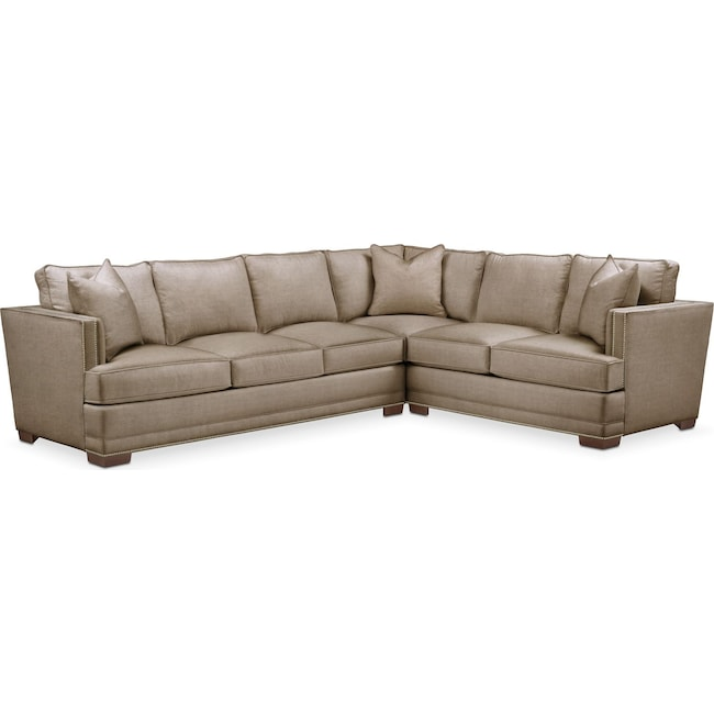 Living Room Furniture - Arden 2-Piece Sectional with Left-Facing Sofa - Cumulus in Statley L Mondo