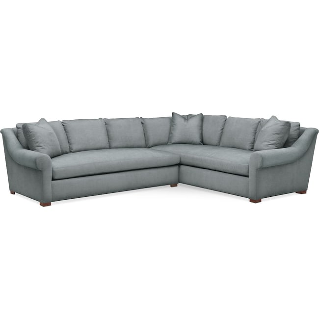 Living Room Furniture - Asher 2 Pc. Sectional with Left Arm Facing Sofa- Comfort in Abington TW Seven Seas