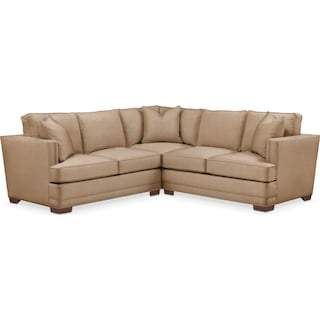 Arden 2 Pc. Sectional with Left Arm Facing Loveseat- Cumulus in Hugo Camel
