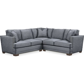 Arden 2 Pc. Sectional with Left Arm Facing Loveseat- Cumulus in Dudley Indigo