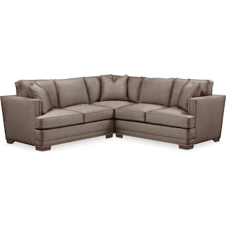 Arden 2 Pc. Sectional with Left Arm Facing Loveseat- Cumulus in Hugo Mocha