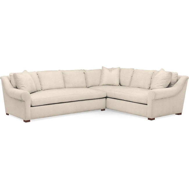 Living Room Furniture - Asher 2 Pc. Sectional with Left Arm Facing Sofa- Comfort in Curious Pearl