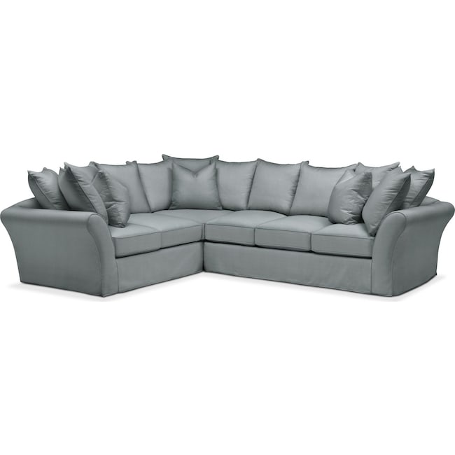 Living Room Furniture - Allison 2-Piece Sectional with Right-Facing Sofa - Comfort in Abington TW Seven Seas