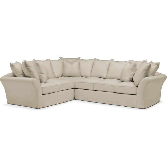 Living Room Furniture - Allison 2 Pc. Sectional with Right Facing Sofa- Cumulus in Abington TW Barley
