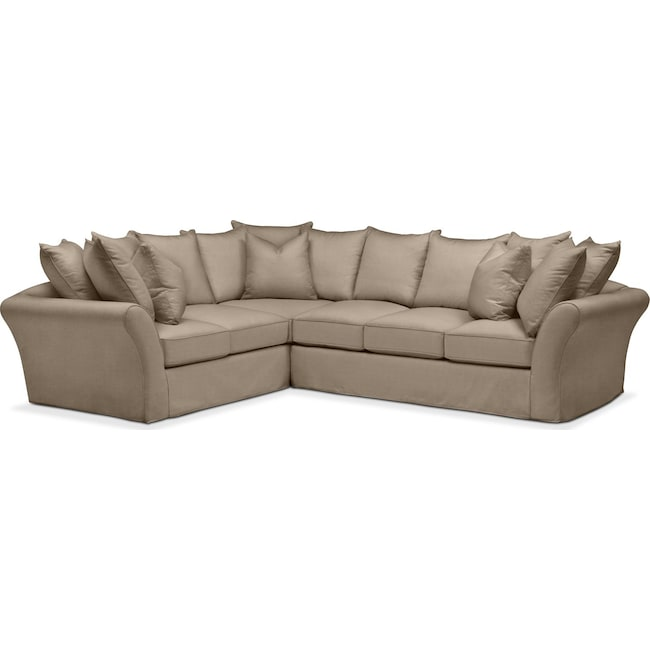 Living Room Furniture - Allison 2 Pc. Sectional with Right Facing Sofa- Cumulus in Statley L Mondo