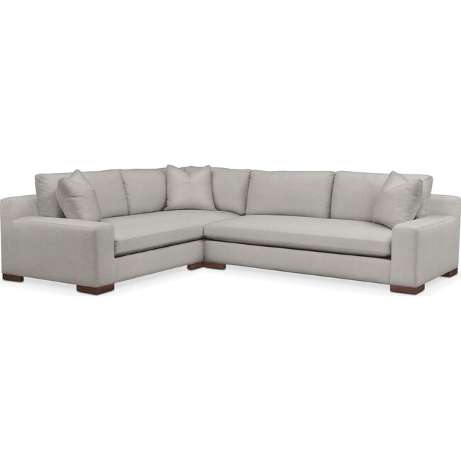 Living Room Furniture - Ethan 2 Pc. Sectional with Right Arm Facing Sofa- Cumulus in Dudley Gray