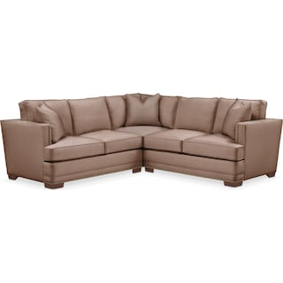 Arden 2 Pc. Sectional with Left Arm Facing Loveseat- Cumulus in Abington TW Antler
