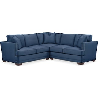 Arden 2 Pc. Sectional with Left Arm Facing Loveseat- Cumulus in Hugo Indigo