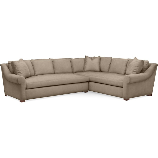 Living Room Furniture - Asher 2 Pc. Sectional with Left Arm Facing Sofa- Comfort in Statley L Mondo