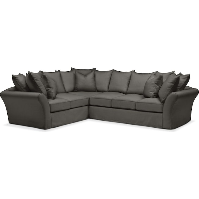 Living Room Furniture - Allison 2-Piece Sectional with Right-Facing Sofa - Comfort in Statley L Sterling
