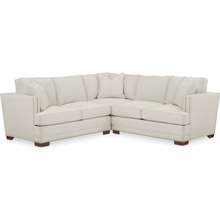 Arden 2 Pc. Sectional with Left Arm Facing Loveseat- Cumulus in Anders Ivory