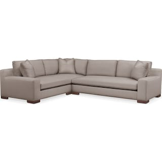 Ethan Cumulus 2-Piece Large Sectional with Right-Facing Sofa - Abington TW Fog