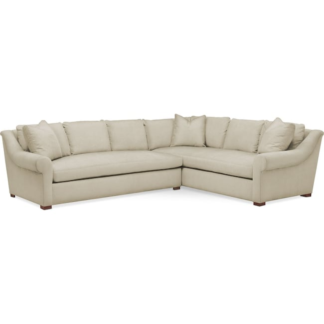 Living Room Furniture - Asher 2 Pc. Sectional with Left Arm Facing Sofa- Cumulus in Abington TW Barley