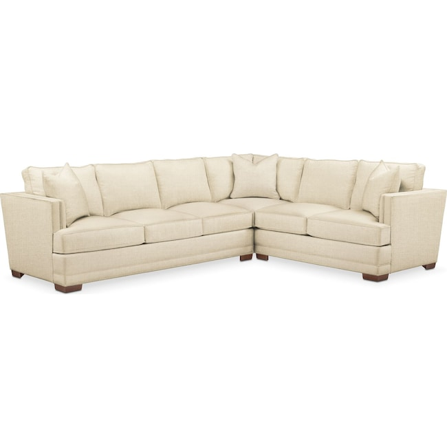 Living Room Furniture - Arden 2 Pc. Sectional with Left Arm Facing Sofa- Cumulus in Anders Cloud