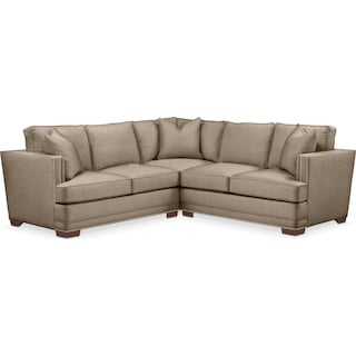 Arden 2 Pc. Sectional with Left Arm Facing Loveseat- Cumulus in Statley L Mondo