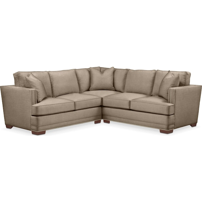 Living Room Furniture - Arden 2-Piece Sectional with Left-Facing Loveseat - Cumulus in Statley L Mondo