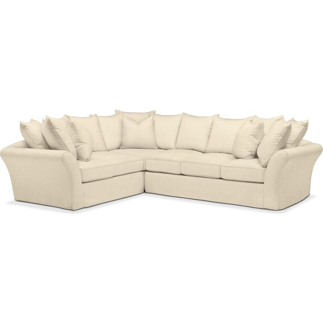 Living Room Furniture - Allison 2 Pc. Sectional with Right Facing Sofa- Cumulus in Anders Cloud