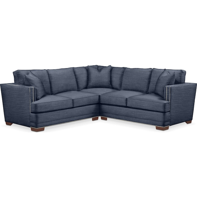 Living Room Furniture - Arden 2-Piece Sectional with Left-Facing Loveseat - Cumulus in Curious Eclipse