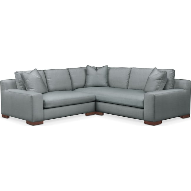 Living Room Furniture - Ethan 2-Piece Sectional with Left-Facing Loveseat - Comfort in Abington TW Seven Seas