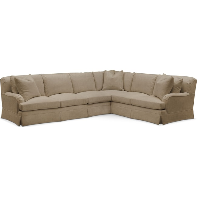 Living Room Furniture - Campbell 2 Pc. Sectional with Left Arm Facing Sofa- Cumulus in Milford II Toast