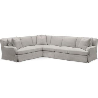 Campbell Comfort 2 Piece Large Sectional with Right-Facing Sofa - Dudley Gray