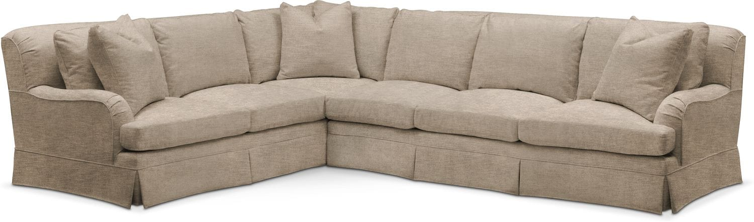 Campbell 2 Piece Sectional With Right Facing Sofa   Cumulus In Dudley Burlap  By Kroehler